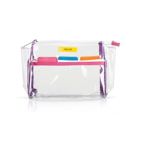 Trousse per Cosmetici Trasparente Colorata