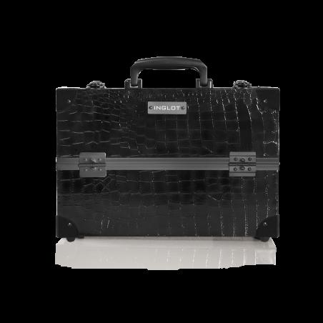 Medio Bauletto Portatrucchi Con motivo Pelle di Coccodrillo (KC-PAC01)
