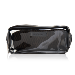 Pochette porta trucchi trasparente nera XL