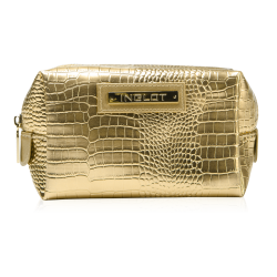 Cosmetic Bag Crocodile Leather Pattern Gold (R24245) icon