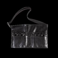 Cintura Pennelli In Eco-Pelle Nera
