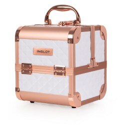 Mini Makeup Case Diamond BIANCO & ROSE GOLD (MB152M)